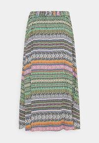 JDY - JDYSTAAR LIFE ABOVE CALF SKIRT - A-line skirt - cloud dancer/aztec multicolor - 1