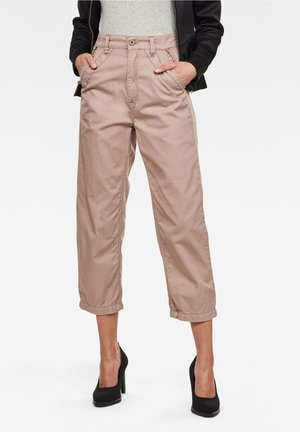 ARMY CITY MID BOYFRIEND STRAIGHT - Trousers - lt skin gd