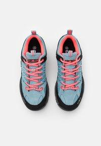 CMP - KIDS RIGEL TREKKING SHOE WP UNISEX - Hiking shoes - clorophilla/red fluo - 3