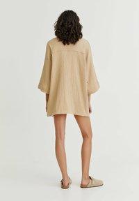 PULL&BEAR - CRÊPE - Summer jacket - mottled beige - 2