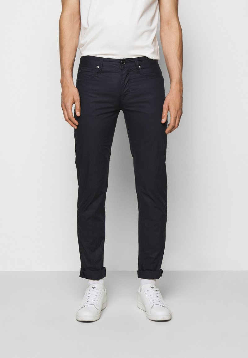Emporio Armani - POCKETS PANT - Trousers - dark blue