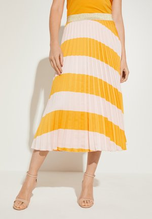 MIT PILSSEEFALTEN - A-line skirt - honey