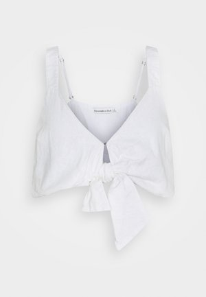 BARE TIE FRONT CAMI - Bluser - white