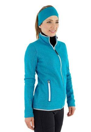 SINA - Zip-up sweatshirt - cyanblau