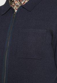 Selected Homme - SLHWILL CARDIGAN - Neuletakki - navy blazer melange - 5