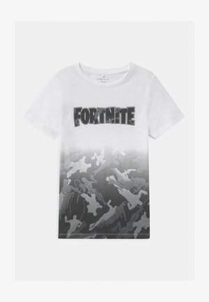 NKMFORTNITE - T-shirt con stampa - bright white