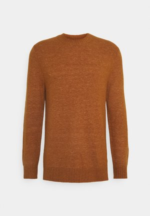 CREW NECK IN SOFT TOUCH QUALITY - Jumper - tobacco