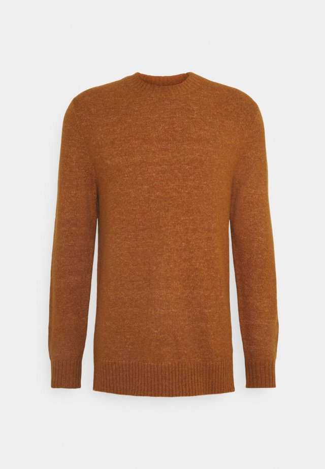 CREW NECK IN SOFT TOUCH QUALITY - Jersey de punto - tobacco