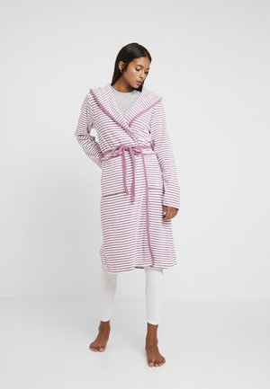 STRIPE BATHROBE - Dressing gown - mauve