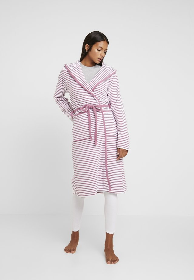 STRIPE BATHROBE - Szlafrok - mauve