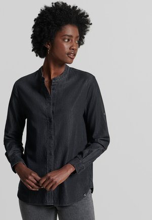 ORGANIC GRANDAD  - Camicia - washed black