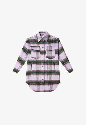 MIT KAROMUSTER  - Classic coat - mauve