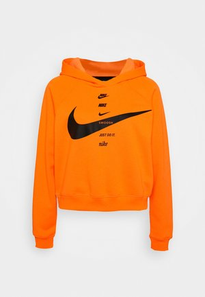 HOODIE - Mikina s kapucí - total orange/black