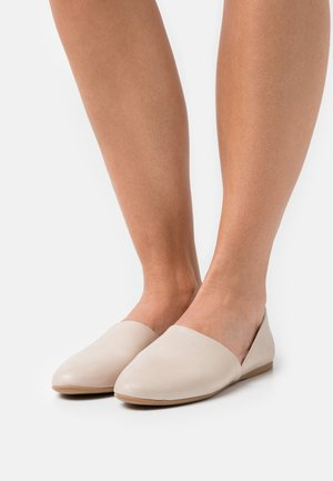 LEATHER - Slip-ons - beige