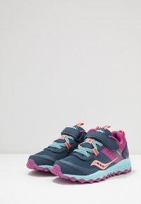 Saucony - PEREGRINE - Trainers - navy/purple/turquoise - 3