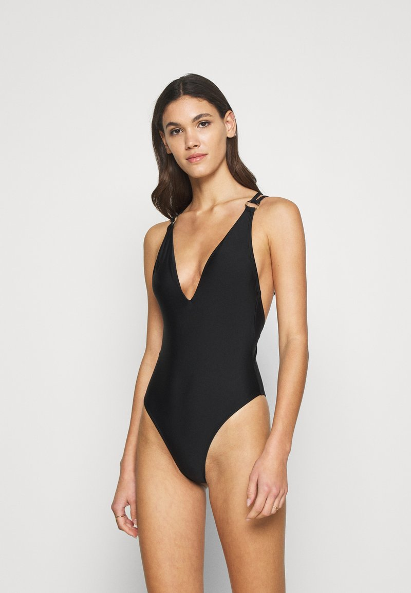 Hunkemöller - ANIMAL BATHING SUIT - Badedrakt - black