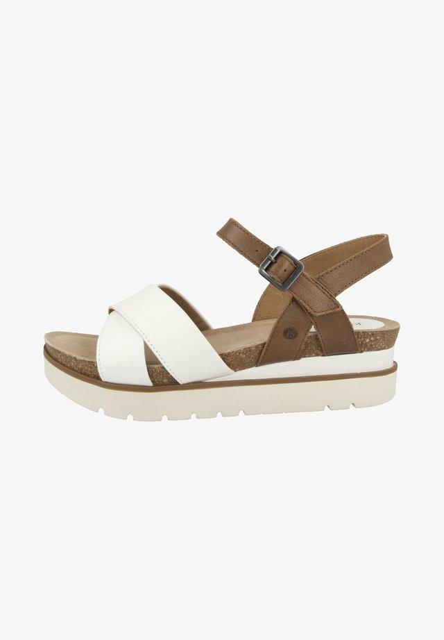 Sandales à plateforme - white combi