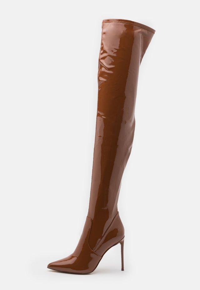 VAVA - Laarzen met hoge hak - cognac