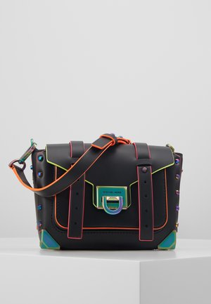 MANHATTAN  MESSENGER NEON TRIM - Across body bag - black
