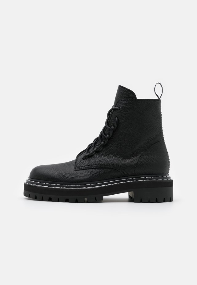 Bottines à plateau - nero