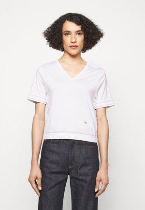 LIGHTWEIGHT  V NECK TEE - T-shirt print - off white
