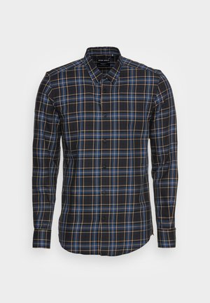 NAPOLI SLIM FIT IN SOFT TOUCH JACQUARD - Shirt - marine