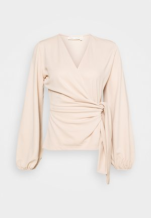 CATJA BLOUSE - Mikina na zip - powder beige