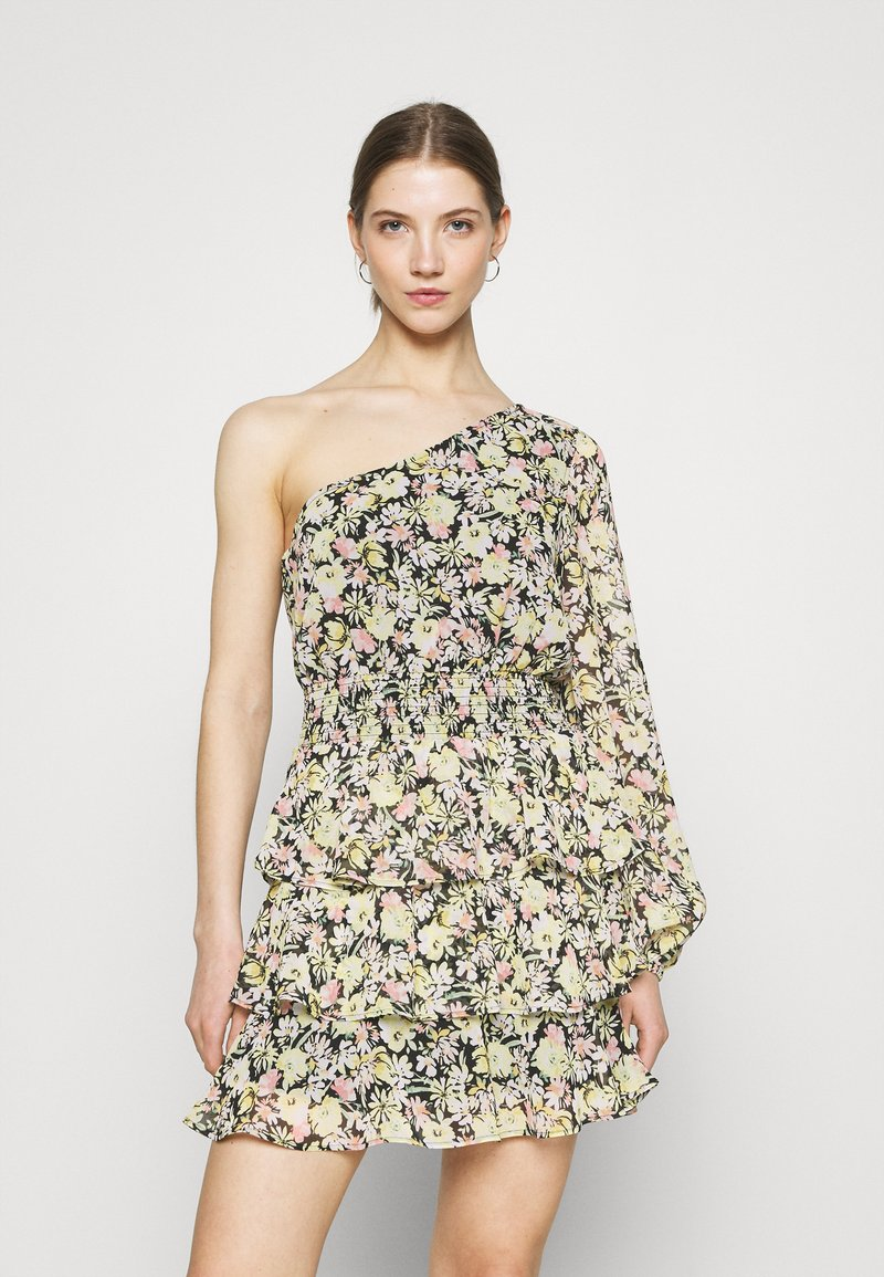 Gina Tricot - EXCLUSIVE MERIDIANDRESS - Cocktail dress / Party dress - black/multi-coloured