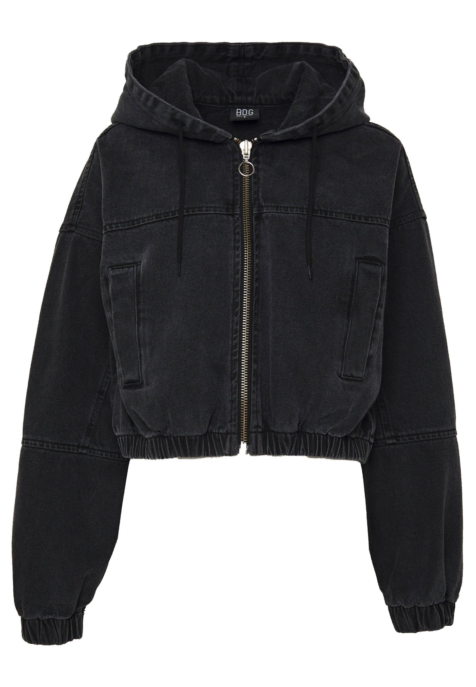 BDG Urban Outfitters PATCH POCKET JACKET - Farkkutakki - wash black 1VPp9