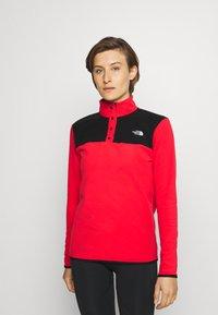 The North Face - GLACIER SNAP NECK - Fleece jumper - horizon red/black - 0