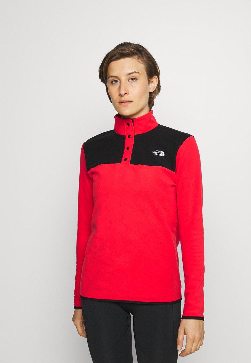 The North Face - GLACIER SNAP NECK - Fleece jumper - horizon red/black