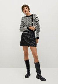 Mango - RECOCO - A-line skirt - black - 1