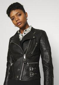 Diesel - L-IGE-NEW-A - Leather jacket - black - 4