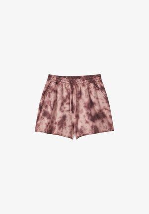 TIE-DYE-PRINT - Shorts - light red