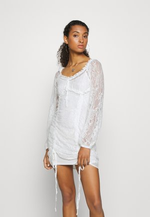 HOSS X NA-KD DETAILED DRESS - Cocktail dress / Party dress - white