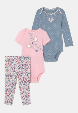 KOALA SET - Triko s potiskem - light pink/light blue