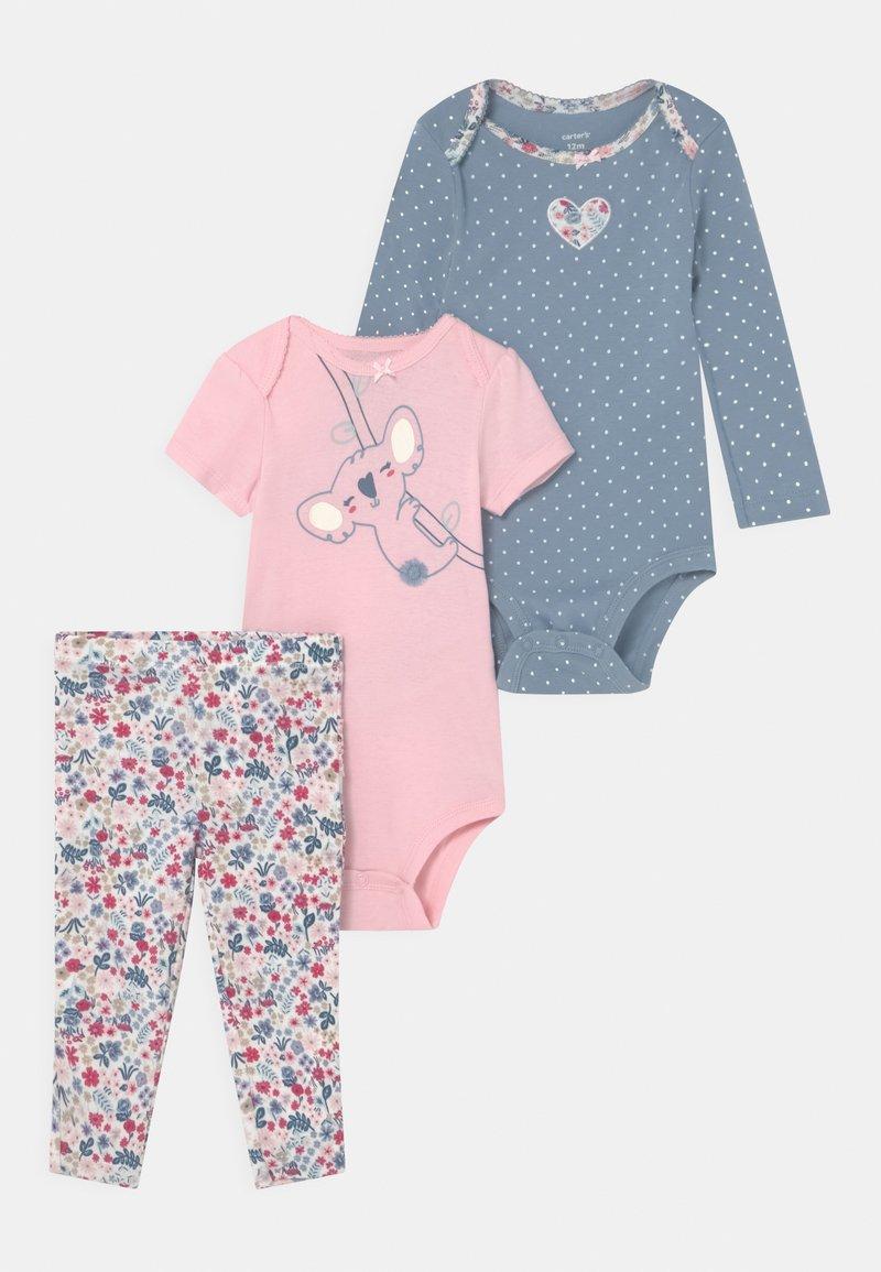Carter's - KOALA SET - Print T-shirt - light pink/light blue