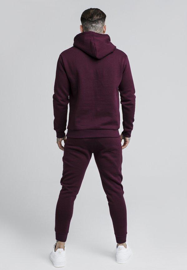 SIKSILK MUSCLE FIT - Spodnie treningowe - burgundy/bordowy Odzież Męska AEHV