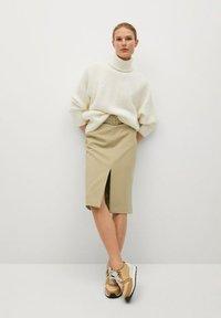 Mango - PENCIL - A-line skirt - beige - 1