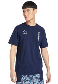 Timberland - Print T-shirt - peacoat - 0