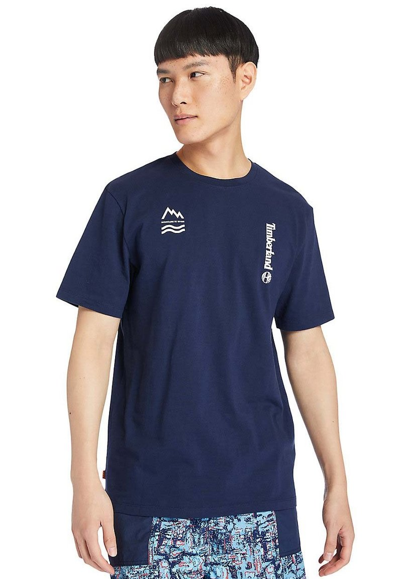 Timberland - Print T-shirt - peacoat