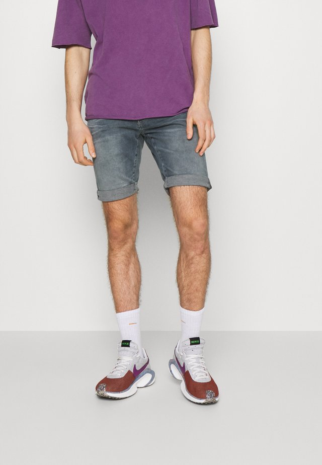 3301 SLIM SHORT - Denim shorts - smokey night