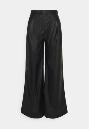 MARIE WIDE PANTS - Trousers - black