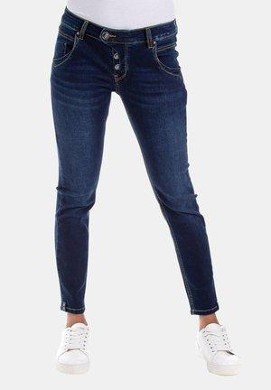 MANIE MIT DEKORATIVEN DETAILS - Slim fit jeans - blau