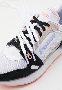 Puma - MILE RIDER POWER PLAY - Trainers - white/black/apricot blush - 5