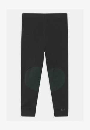 UNISEX - Leggings - Trousers - black/school green