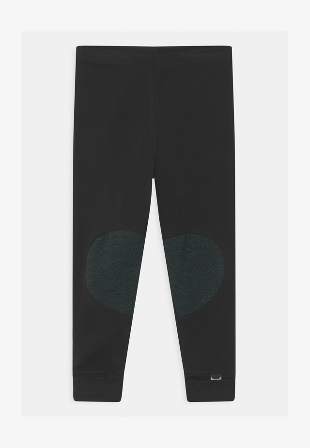 UNISEX - Leggings - black/school green