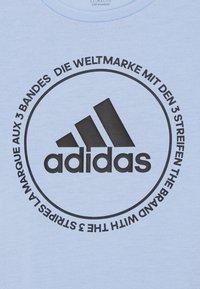 adidas Performance - PRIME TEE - T-shirts print - glow blue/black - 3