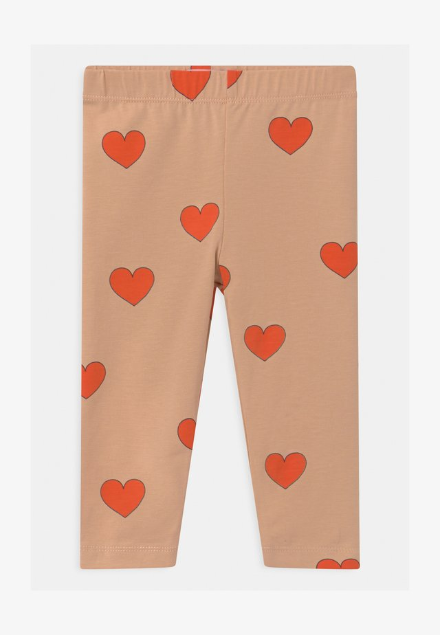 HEARTS - Leggings - light nude/red