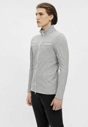 Fleece jacket - stone grey melange